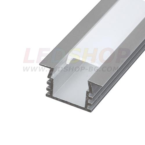 Алуминиев профил за LED лента - за вграждане, дълбок